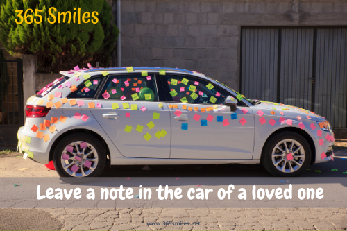 Put a sweet message in the car of your partner