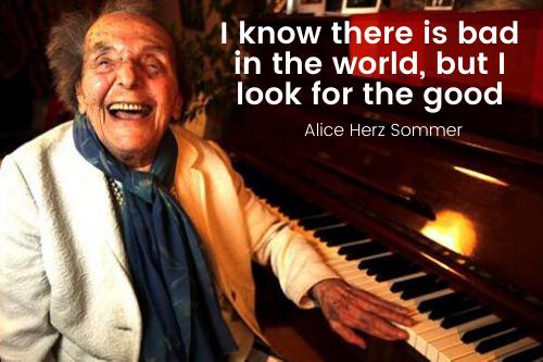 Holocaust survivor Alice Hertz Cooper gives us wise lessons