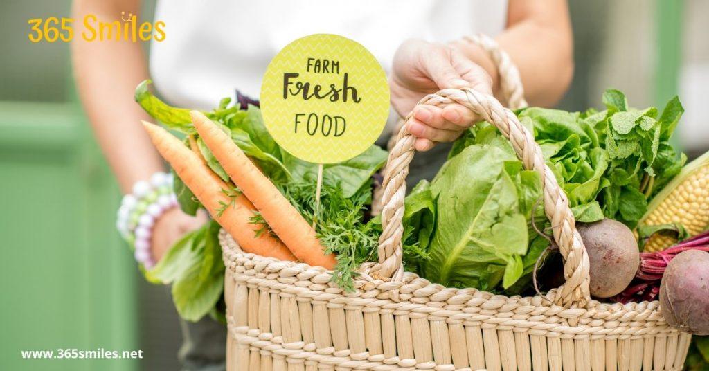Buy fresh at a local farmers market