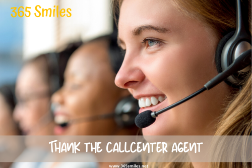 Thank the call center agent