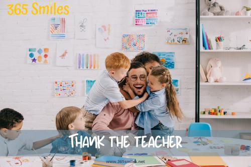 Thank the teacher