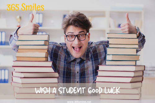 Support a student and wish him or her good luck