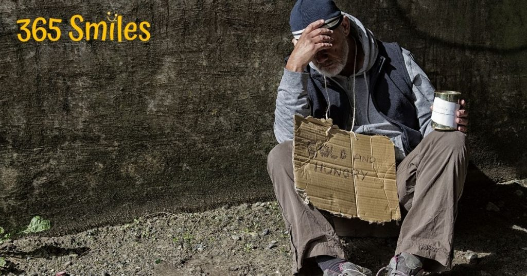 Look a beggar in the eye to show they are human.