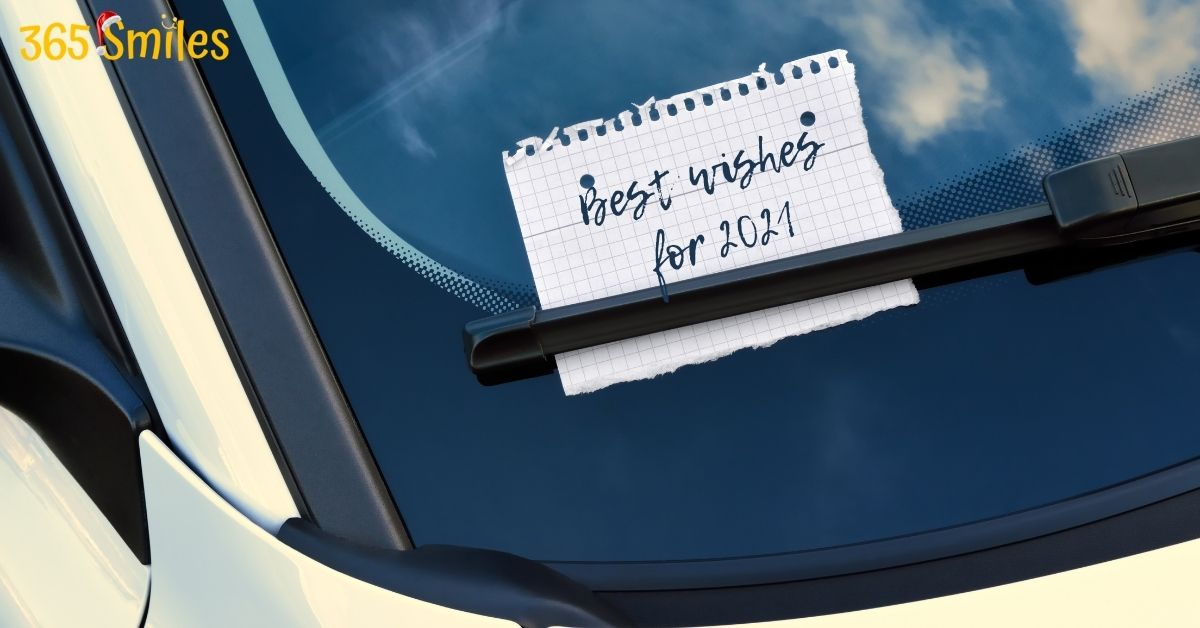 Put New years's wishes on windshield